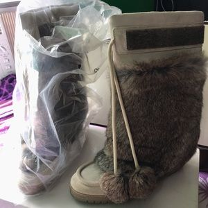 Coach Maryann suede boots